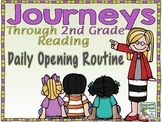 Journeys 2nd Grade Daily Routine, Units 1-2 Bundle