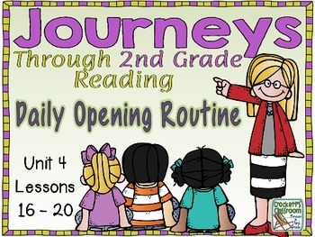 Journeys 2nd Grade Daily Routine, Units 3-4 Bundle