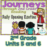 Journeys 2nd Grade Daily Routine, Units 5-6 Bundle