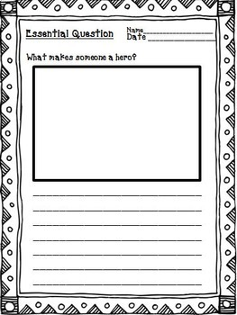 Dex: The Heart of a Hero Journeys 2nd Grade Unit 4 Lesson 20 Activities