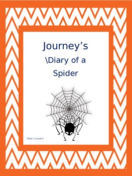 Journey's 2nd Grade Diary of a Spider Supplements