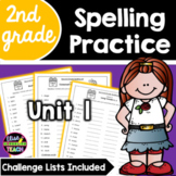 Journeys 2nd Grade Differentiated Spelling Lists- Unit 1