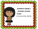 Journeys 2nd Grade Editable Lesson Plans - Unit 4