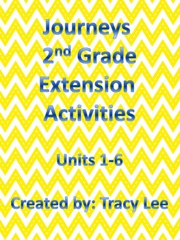 Journeys 2nd Grade Extension Activities Units 1-6