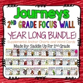 Journeys 2nd Grade Focus Walls Yearly Bundle