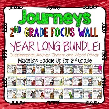 Journeys 2nd Grade Focus Walls Yearly Bundle