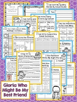 Journeys 2nd Grade - Gloria Who Might Be My Best Friend Unit 5 Lesson 22 NO PREP