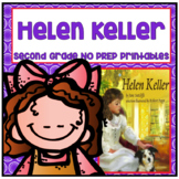 Helen Keller Second Grade NO PREP Supplemental Printables