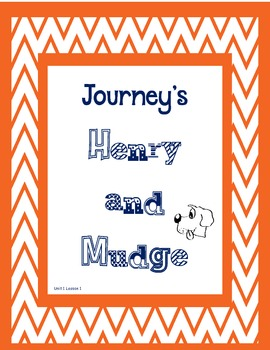 Journey's 2nd Grade Henry and Mudge Supplements