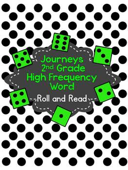 Journeys 2nd Grade High Frequency Word Roll and Read