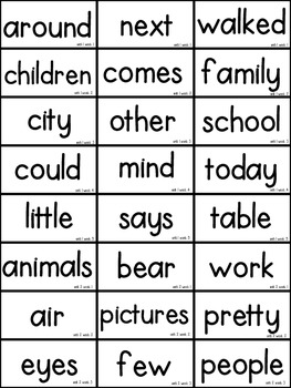 It is a photo of Inventive 2nd Grade Sight Words Printable