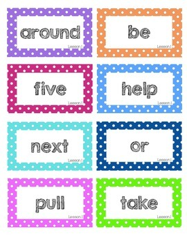Journeys 2nd Grade High-Frequency Word Wall Words