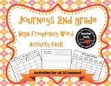 Journeys 2nd Grade High Frequency Words Activity Pack for