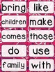 Journeys 2nd Grade High Frequency and Vocab for Word Wall: