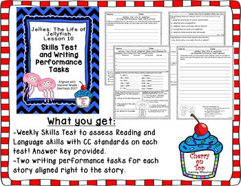 Journeys 2nd Grade Jellies Weekly Spelling Test and Writing Tasks