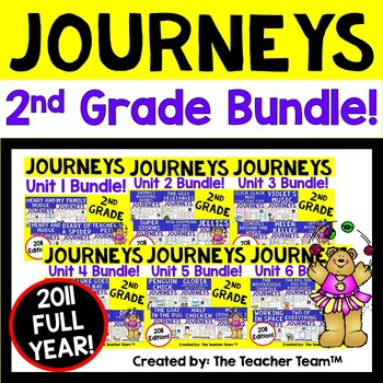 Journeys 2nd Grade Units 1-6 Full Year Supplemental Activities & Printables 2011