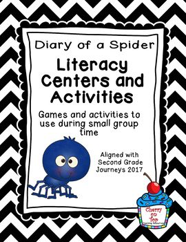 Journeys 2nd Grade Literacy Center- Lesson 4 Diary of a Spider