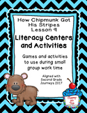 Journeys 2nd Grade Literacy Center- Lesson 9- How Chipmunk Got His Stripes