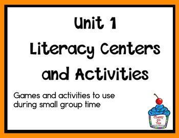 Journeys 2nd Grade Literacy Centers- Unit 1 Bundle