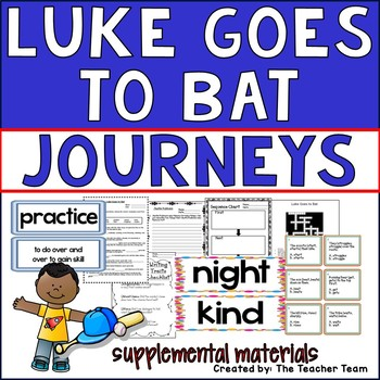 Luke Goes to Bat Journeys 2nd Grade Unit 4 Lesson 17 Activities and Printables