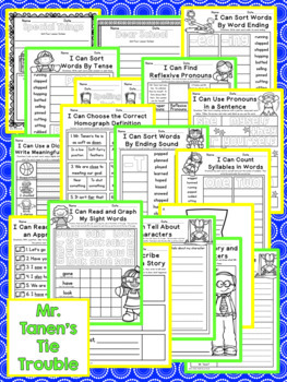 Mr. Tanen's Tie Trouble Second Grade NO PREP Supplemental Printables