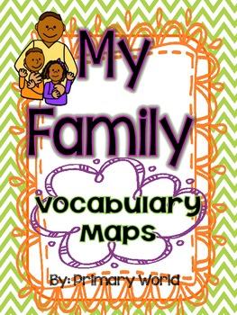 Journeys 2nd Grade My Family 1.2- Vocabulary Maps
