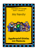 Journeys 2nd Grade My Family Supplemental Activities