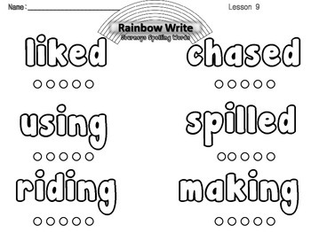 Journeys 2nd Grade Rainbow Write Spelling Words Lessons 1-30