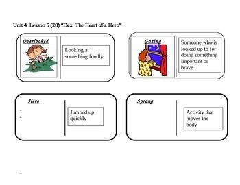 "Journeys 2nd Grade Reading Series Vocabulary Dominoes ""Dex: The Heart..."""