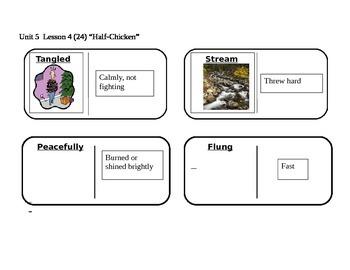 "Journeys 2nd Grade Reading Series Vocabulary Dominoes ""Half-Chicken"""