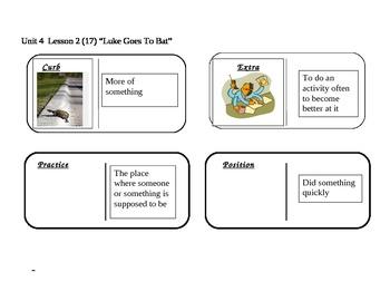 "Journeys 2nd Grade Reading Series Vocabulary Dominoes ""Luk"