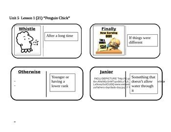 "Journeys 2nd Grade Reading Series Vocabulary Dominoes ""Penguin Chick"""