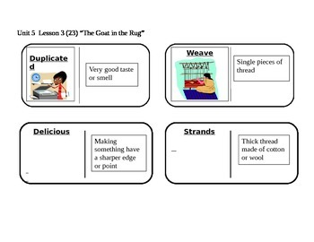 """Journeys 2nd Grade Reading Series Vocabulary Dominoes """"The"""