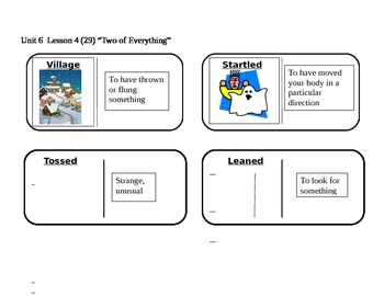 """Journeys 2nd Grade Reading Series Vocabulary Dominoes """"Two of Everything"""""""