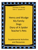 Journeys 2nd Grade Resources Bundle Unit 1