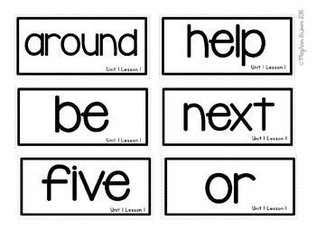Journeys 2nd Grade Sight Word Cards Unit 1