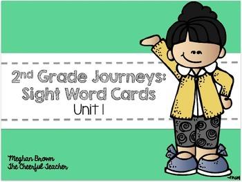 Journeys 2nd Grade Sight Word Cards Unit 1