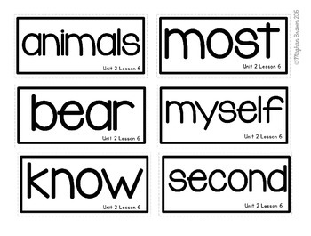 Journeys 2nd Grade Sight Word Cards Unit 2
