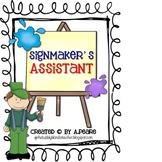 Journeys 2nd Grade- Signmaker's Assistant Unit 4, Lesson 19