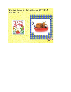 Journeys 2nd Grade Smartboard lesson Unit 1 Lesson 4 Diary of a Spider