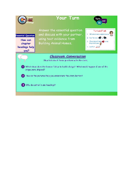 Journeys 2nd Grade Smartboard lesson Unit 1 Lesson 6 Building Animal Homes