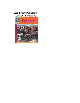 Journeys 2nd Grade Smartboard lesson Unit 3 Lesson 13 Schools Around the World