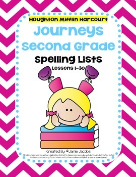 Journeys 2nd Grade - Spelling Lists