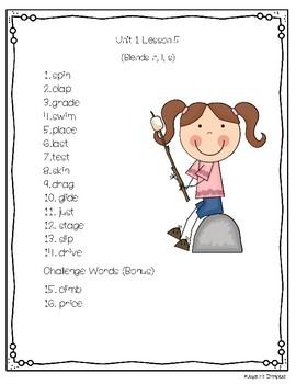 Journeys © 2nd Grade Spelling Lists