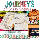 Journeys 2nd Grade Spelling Lists and Activities