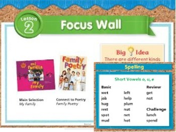 Journeys 2nd Grade Spelling Modified Worksheets 1:2