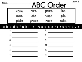Journeys 2nd Grade ABC Order(Spelling Words) ~ All 30 Lessons
