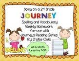 Journeys Spelling and Vocabulary Homework Forms Lessons 1-30