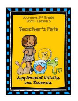 Journeys 2nd Grade Teacher's Pets Supplementary Activities