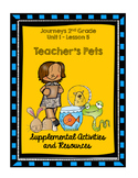 Journeys 2nd Grade Teacher's Pets Supplementary Activities